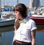 Peter pan collar with bow tie