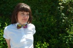 floral bow tie, female