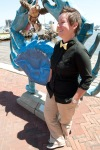Girl in bow tie, maryland blue crab