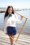 Girl in bow tie in picture frame