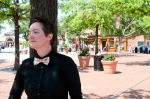 Girl in bow tie, baltimore